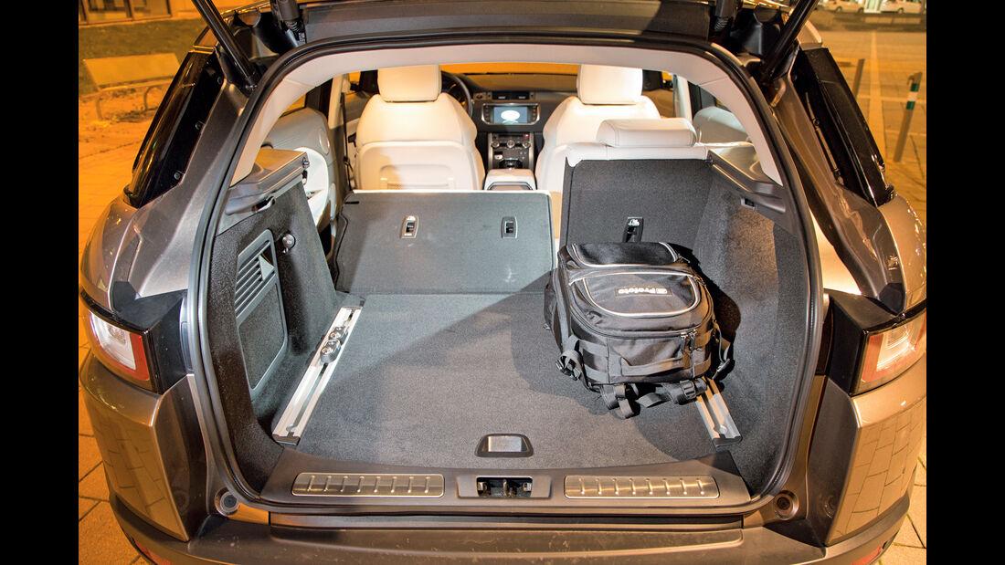 Range Rover Evoque TD4, Rücksitze, Umklappen