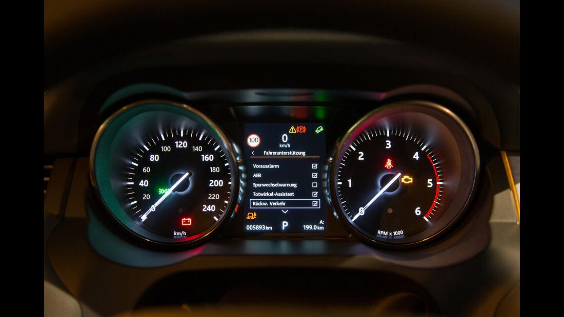 Range Rover Evoque TD4, Rundinstrumente