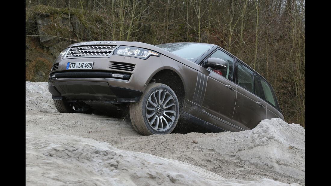 Range Rover, Frontansicht, Geländefahrt
