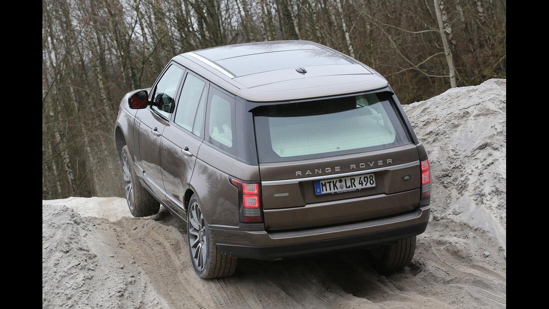 Range Rover, Heckansicht, Geländefahrt
