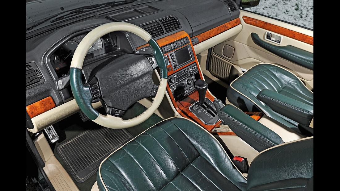 Range Rover P38A, Cockpit, Interieur