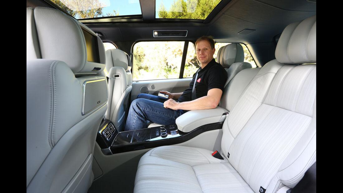 Range Rover, Rücksitz