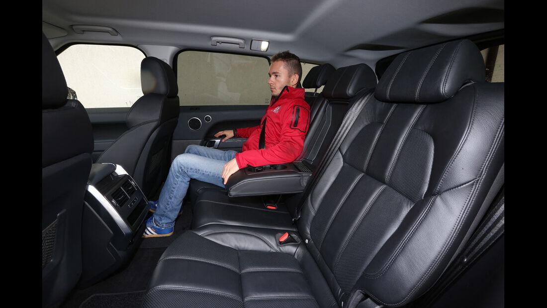 Range Rover Sport SDV6, Fondsitz, Beinfreiheit