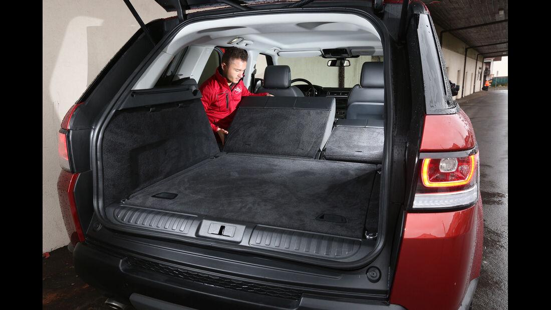 Range Rover Sport SDV6, Kofferraum