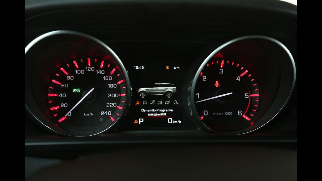 Range Rover Sport SDV6, Rundinstrumente