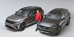 Range Rover Velar und Volvo XC60 Fotostudio