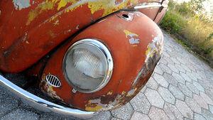 Rat Style Käfer - Frontansicht mit Scheinwerfer und kotflügel