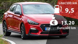 Realverbrauch Kosten Hyundai i30 Fastback N Performance