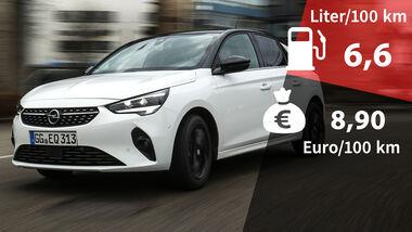 Realverbrauch Kosten Opel Corsa 1.2 DI Turbo
