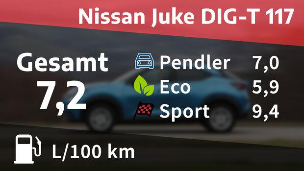 Realverbrauch Nissan Juke DIG-T 117