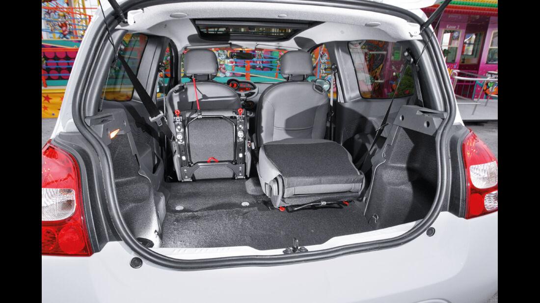 Reault Twingo 1.2 16V Night & Day, Kofferraum, umklappbare Sitze