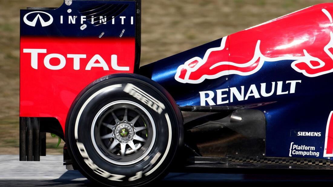 Red Bull Auspuff F1 Test 2012