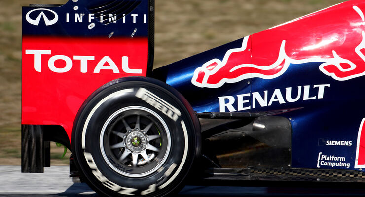 Red Bull Auspuff F1 Test 2012