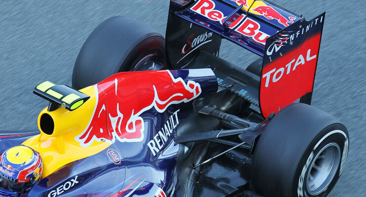 Red Bull Auspuff Jerez Test 2012