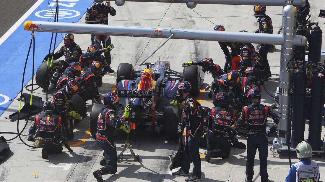 Red Bull Boxenstopp GP Ungarn 2012