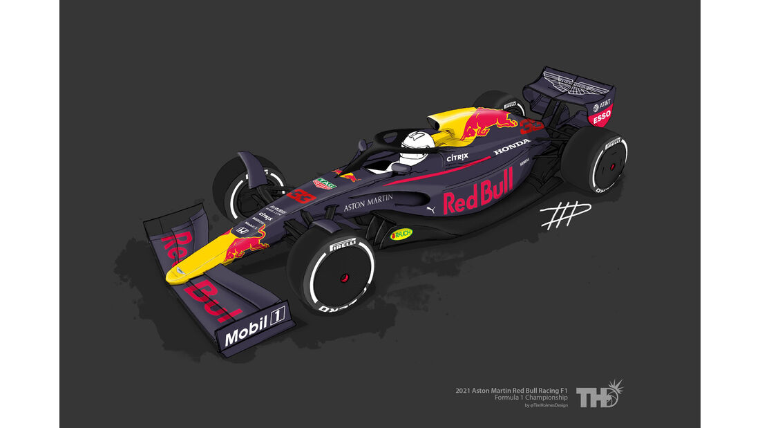 Red Bull - F1-Concept 2021 - Livery by Tim Holmes
