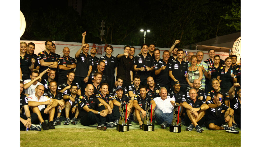 Red Bull Feier GP Singapur 2011