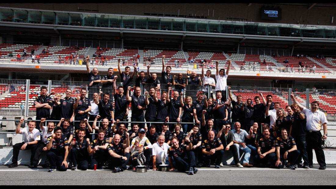 Red Bull Feier GP Spanien 2011