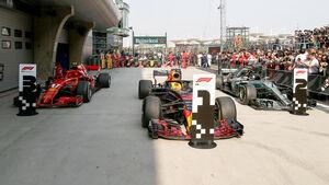 Red Bull, Ferrari & Mercedes - GP China 2018