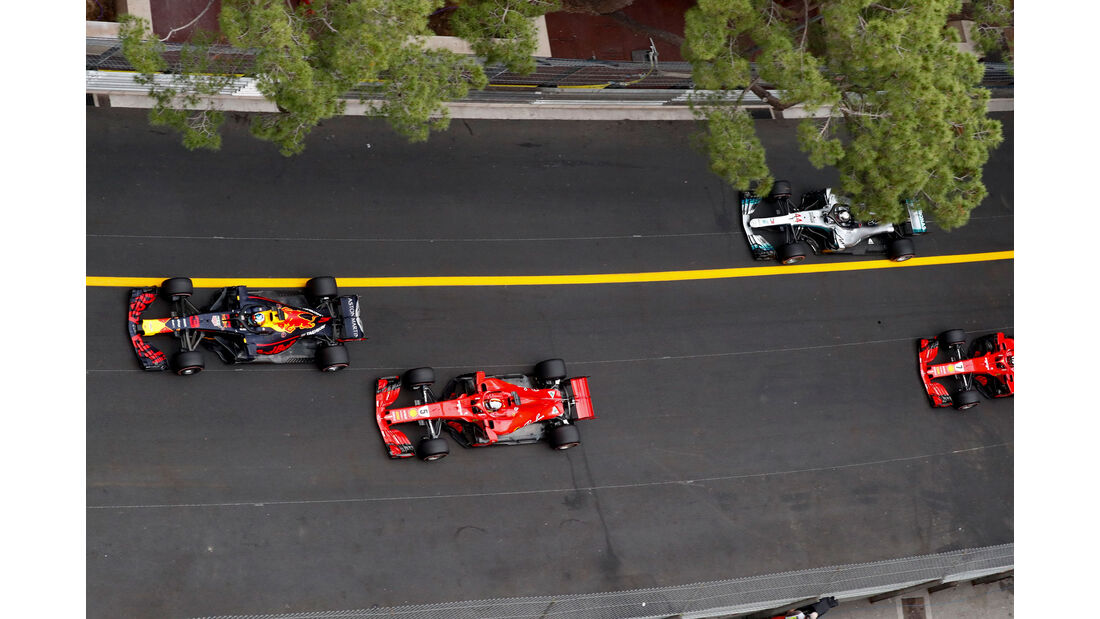 Red Bull - Ferrari - Mercedes - GP Monaco 2018 - Rennen