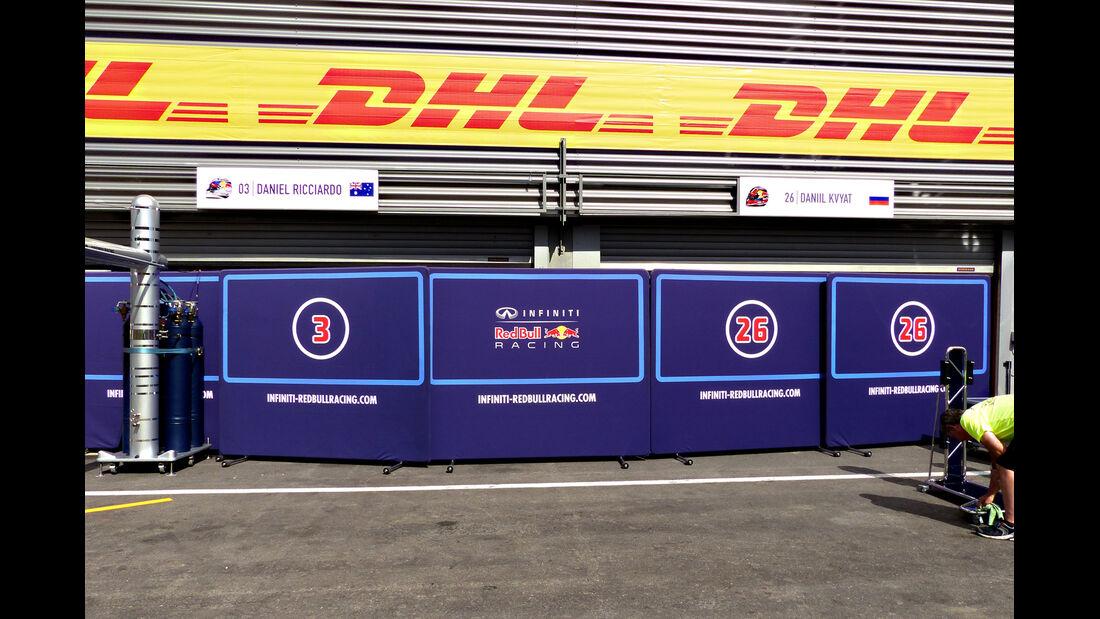 Red Bull - Formel 1 - GP Belgien - Spa-Francorchamps - 19. August 2015