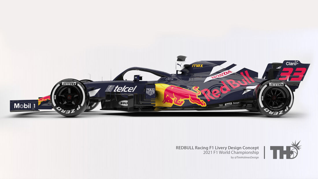 Red Bull - Formel 1 - Livery-Concept 2021 - Tim Holmes Design