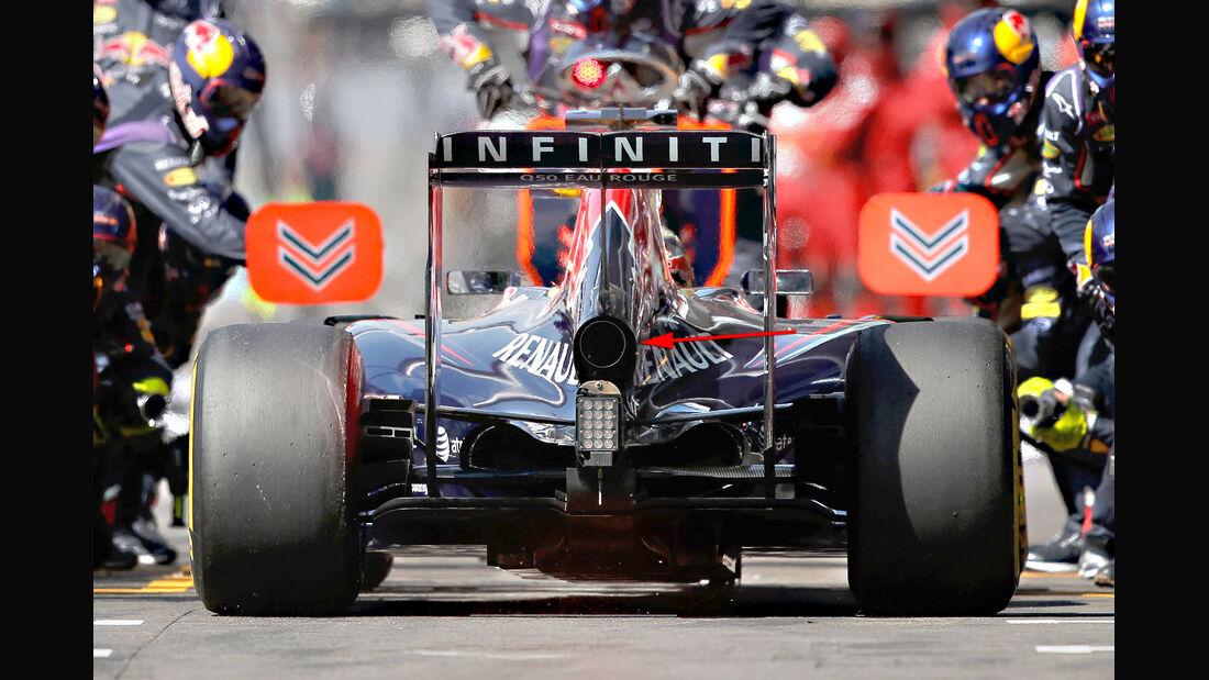 Red Bull - Formel 1 - Technik - GP Belgien 2014