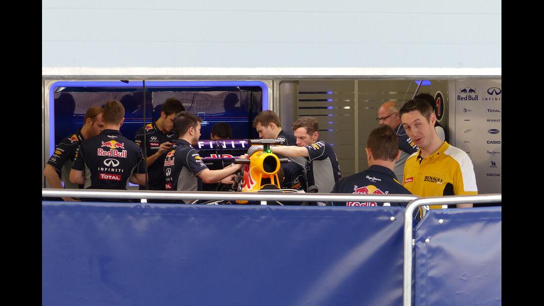 Red Bull - Formel 1 - Test - Bahrain - 19. Februar 2014