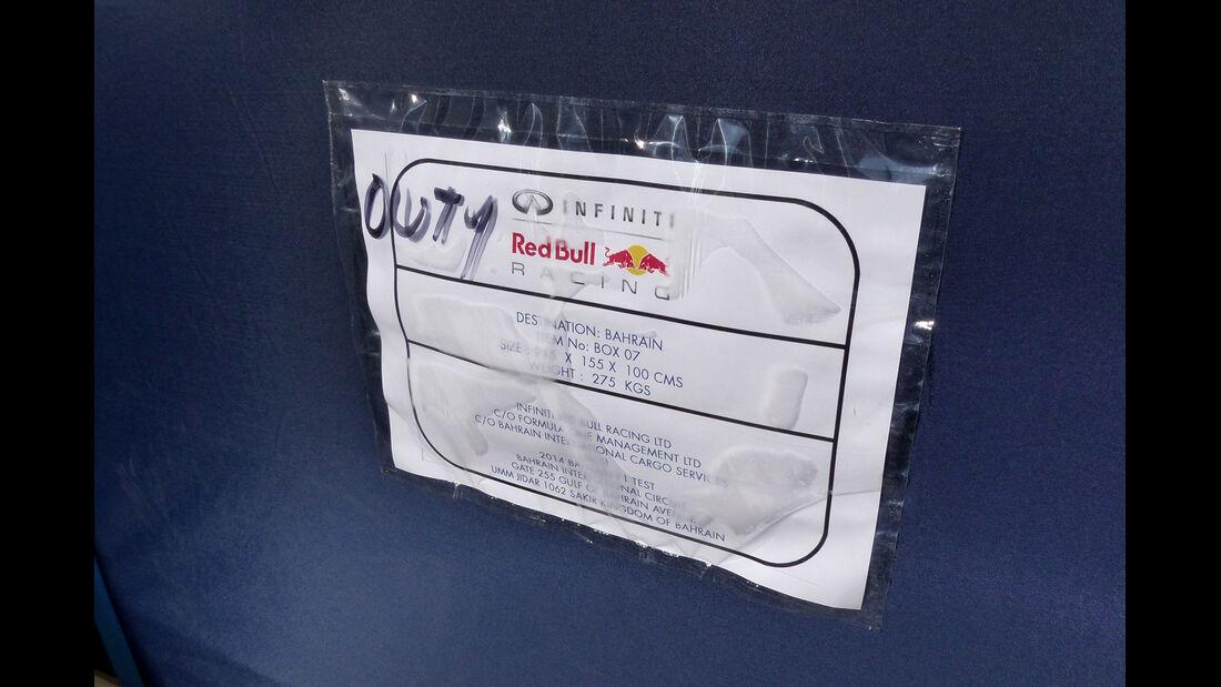Red Bull - Formel 1 - Test - Bahrain - 22. Februar 2014