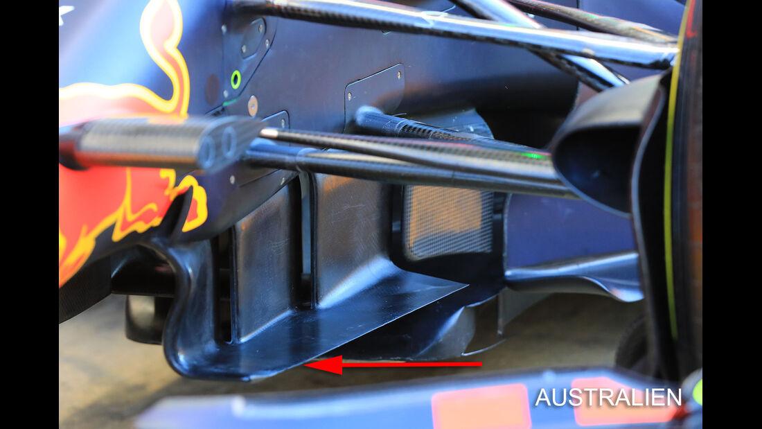 Red Bull - GP Australien - Technik - Formel 1 - 2017