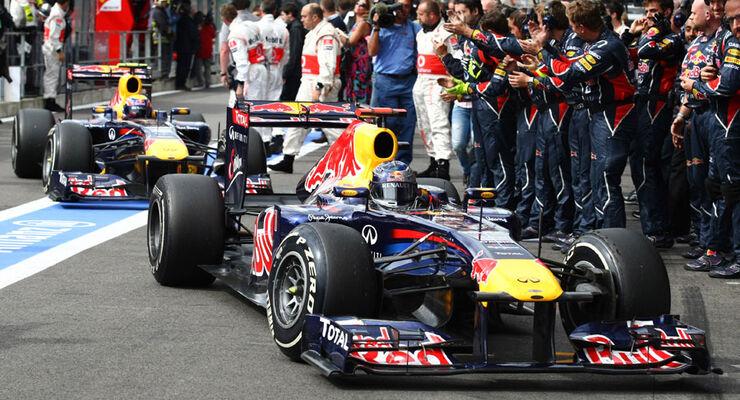 Red Bull GP Belgien 2011 Parc Ferme