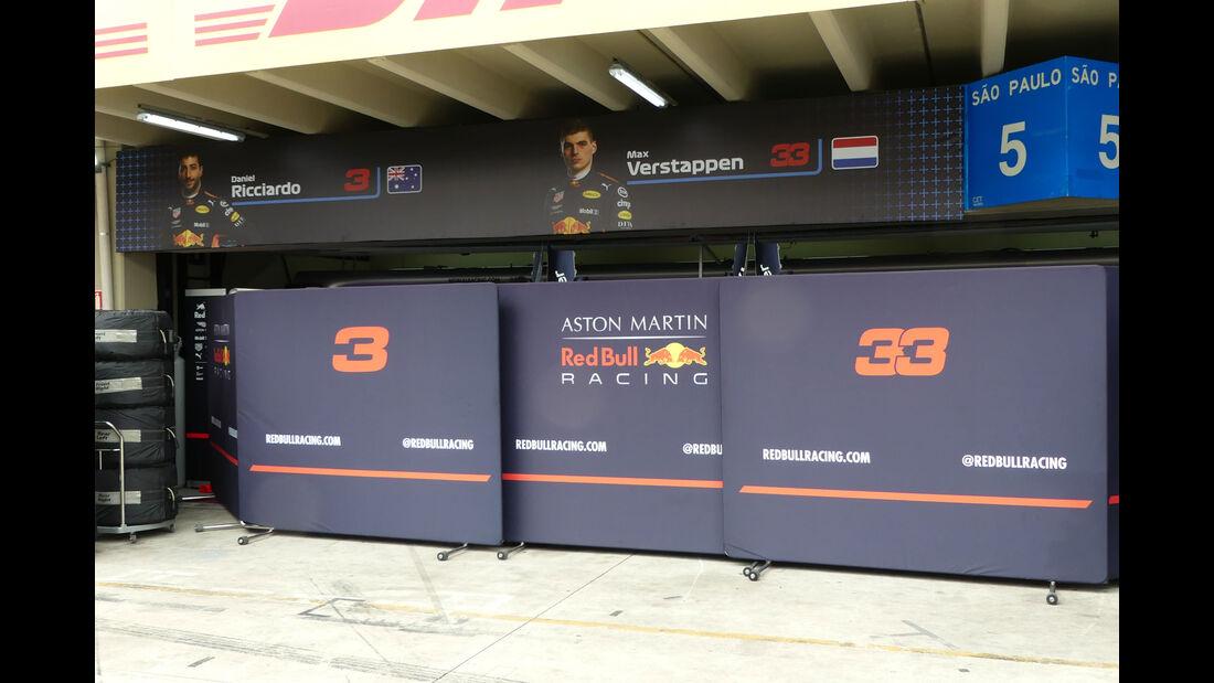 Red Bull - GP Brasilien - Interlagos - Formel 1 - Mittwoch - 7.11.2018