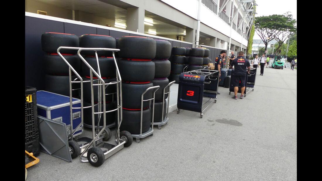 Red Bull - GP Singapur - Formel 1 - Mittwoch - 13.09.2017