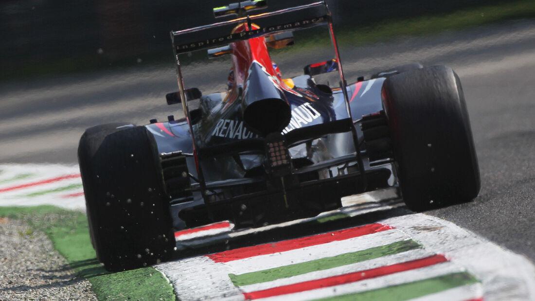 Red Bull Heckflügel Doppel DRS GP Italien 2012
