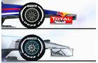 Red Bull RB10 & Mercedes W05 - Piola Technik-Video 2014