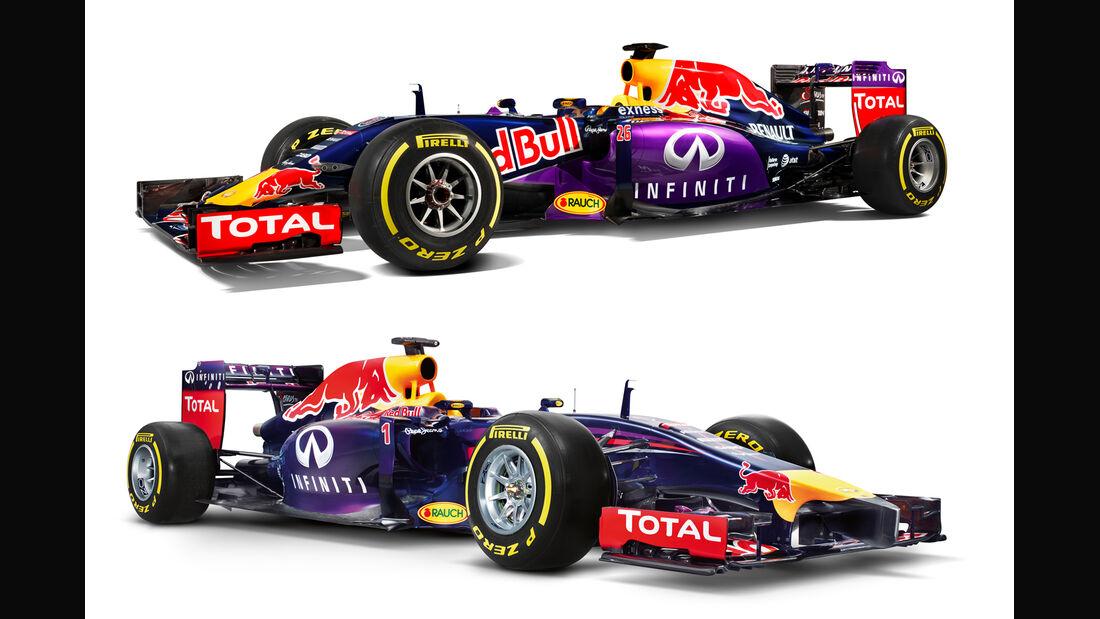 Red Bull RB10 vs. RB11 - Studiofotos - F1 2015