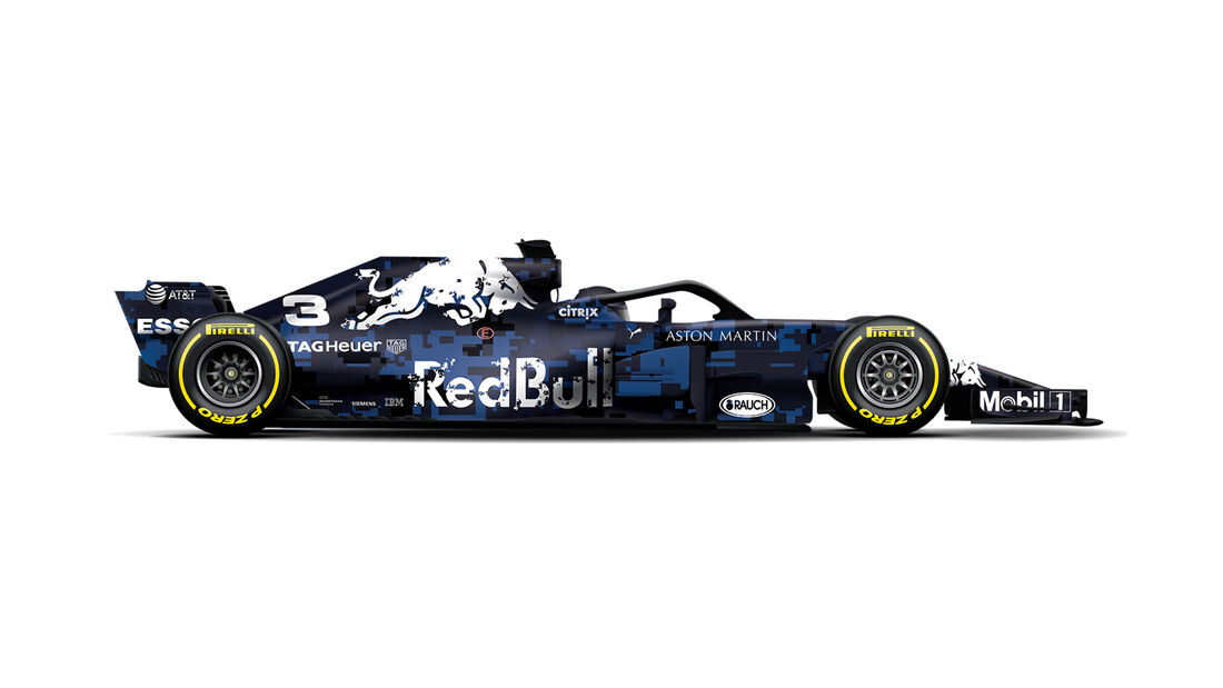 Red Bull RB13 - neue Lackierung
