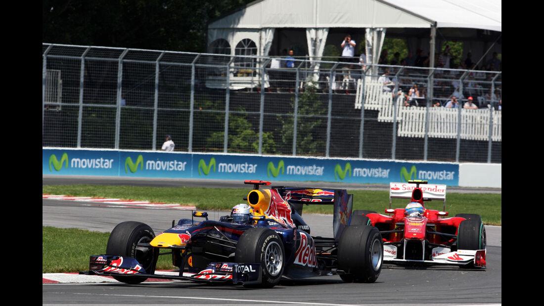 Red Bull RB6 - Ferrari F10 - Vettel - Alonso - F1 2010