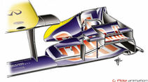 Red Bull RB7 Monza GP Italien 2011 Piola Technik