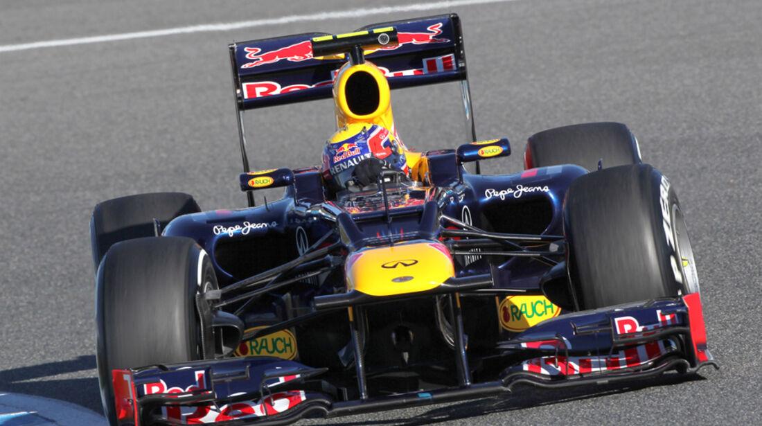 Red Bull RB8 Formel 1 Jerez 2012