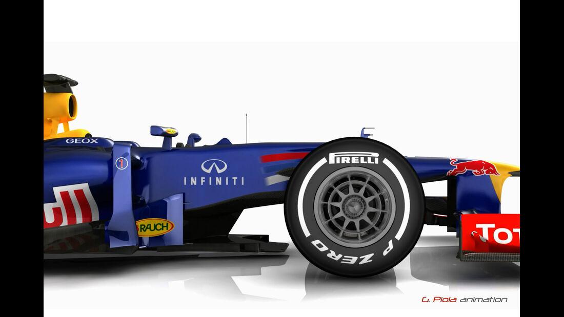 Red Bull RB8 Updates 2012 Piola Technik Formel 1