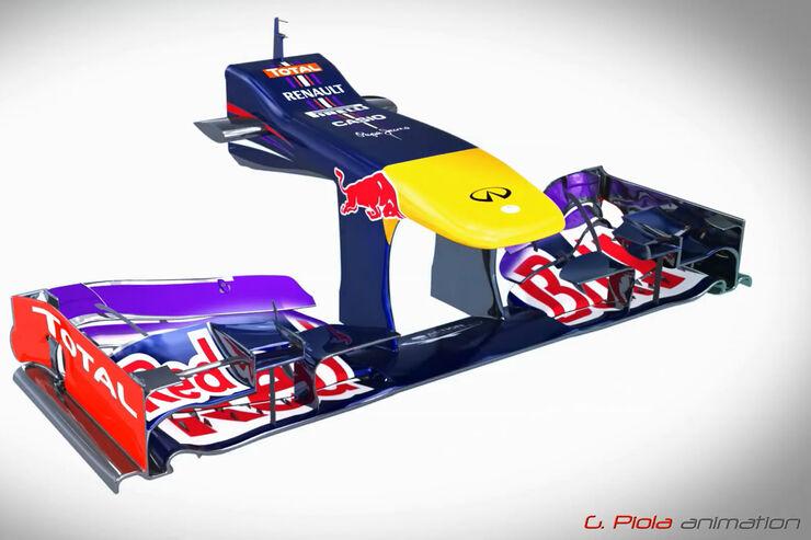 Red Bull RB9 - Piola Technik - Entwicklung 2. Saisonhälfte 2013