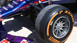 Red Bull Reifen Pirelli Tyre-Swapping GP England 2013