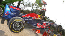 Red Bull Webber Crash GP Italien Monza 2011