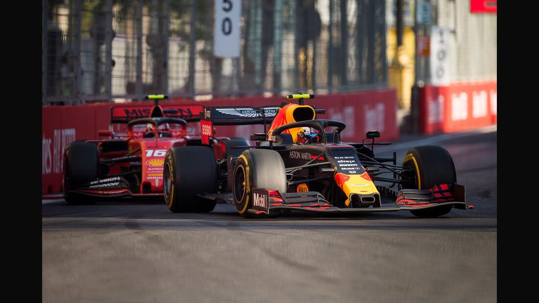 Red Bull vs. Ferrari - GP Aserbaidschan 2019