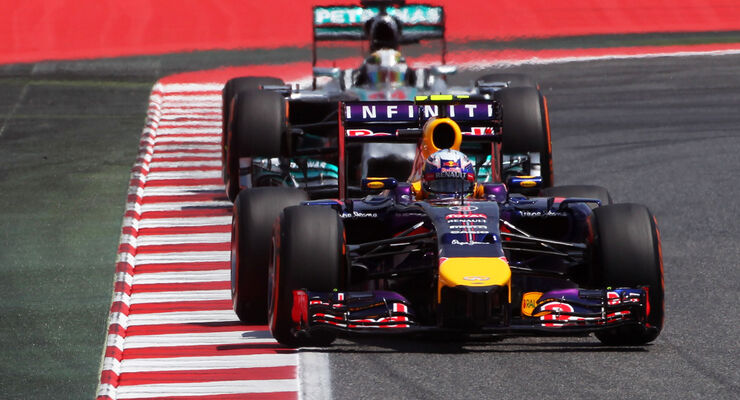 Red Bull vs Mercedes - GP Spanien 2014