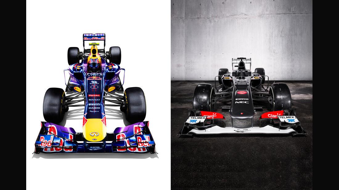 Red Bull vs Sauber 2013
