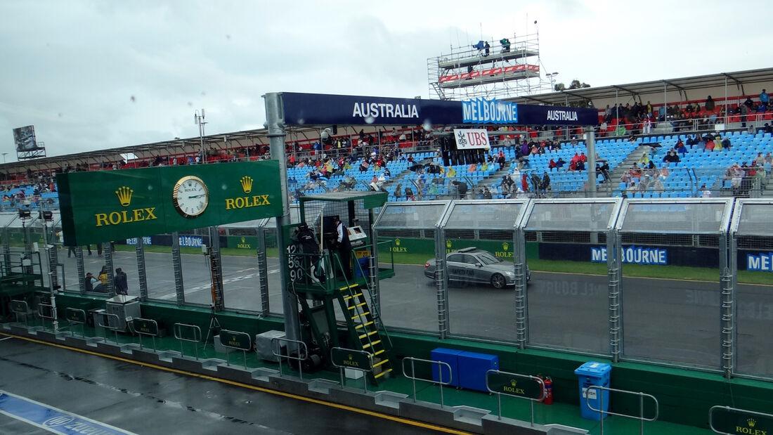 Regen - Formel 1 - GP Australien - 16. März 2013