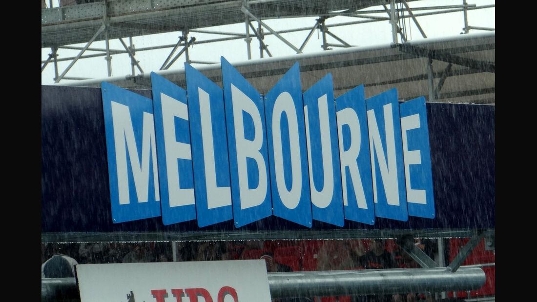 Regen - GP Australien - Melbourne - 16. März 2012