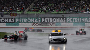 Regen Unterbrechung GP Malaysia 2012